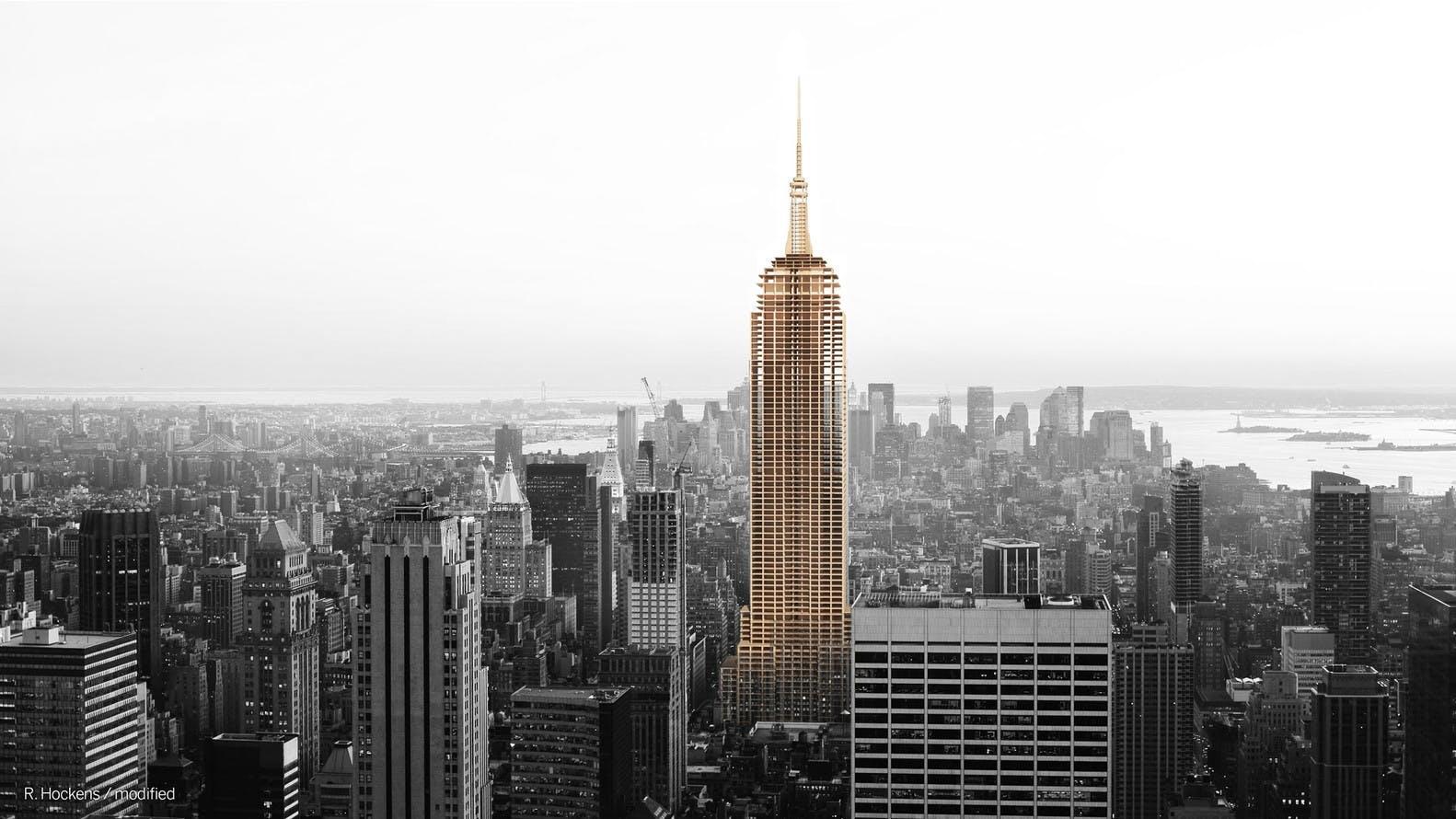 Empire State Building af træ