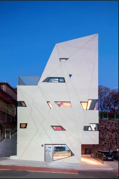 Futuristisk arkitektur i Seoul