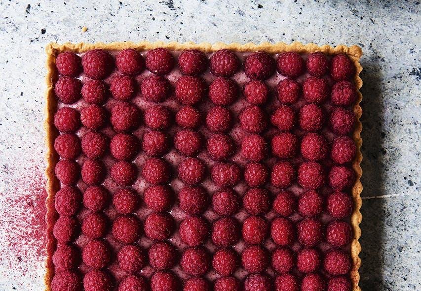 tærte kage hindbær