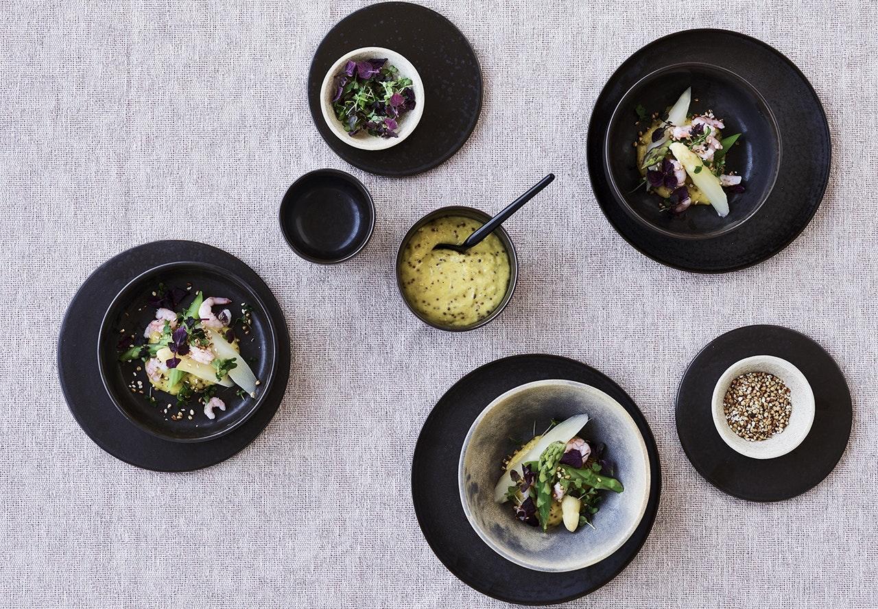 forret rejer asparges mayo opskrift