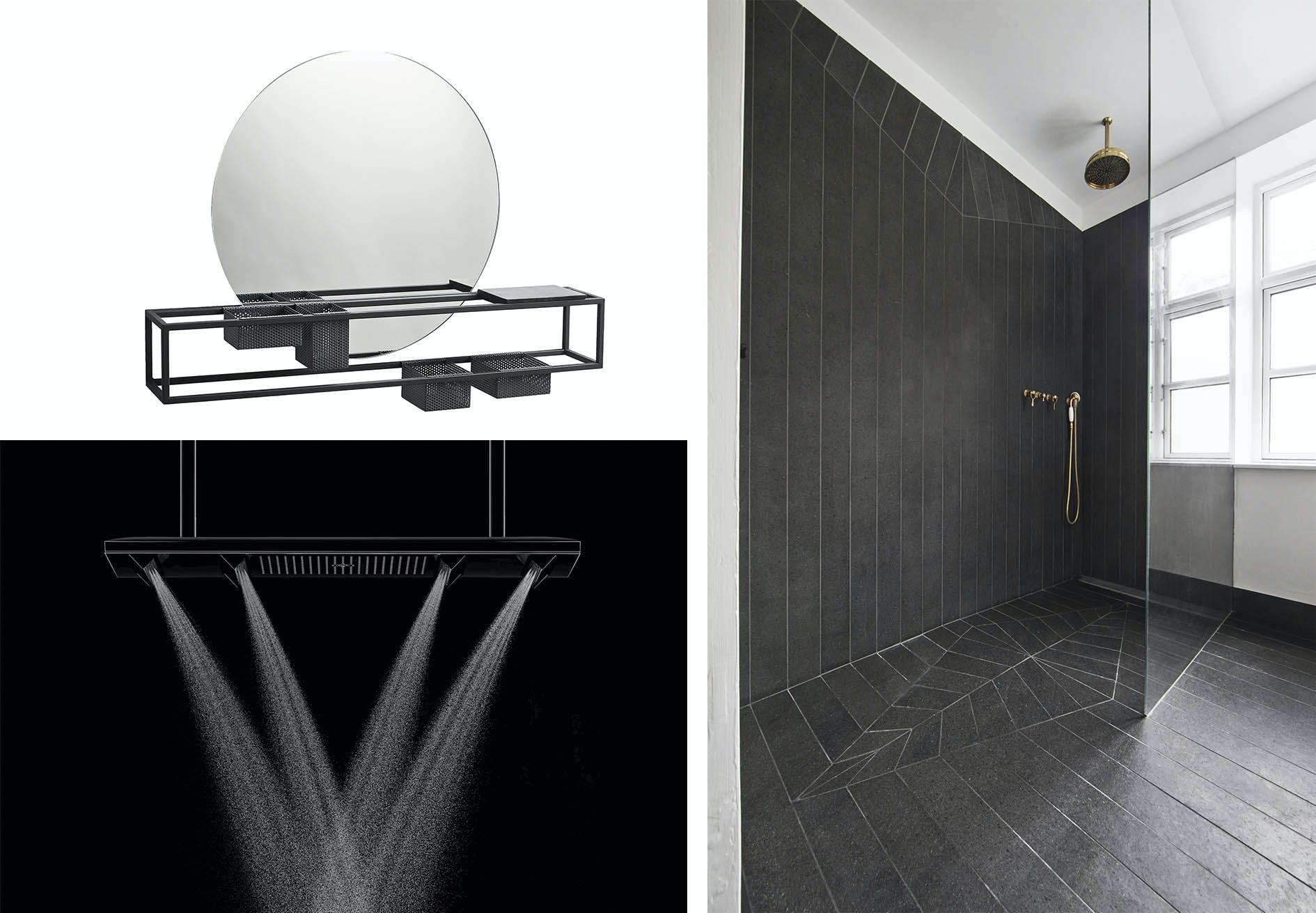 sort badeværelse brusekabine bruser