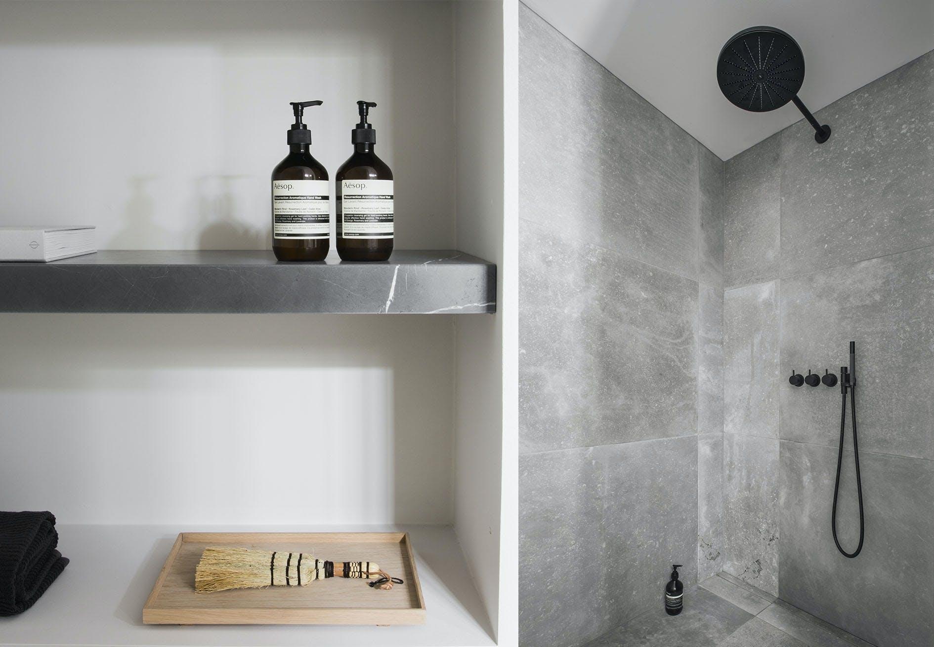 badeværelse minimalistisk nordisk og japansk sort armatur