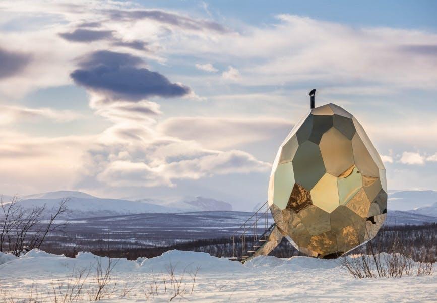sauna kunst arkitektur guld sverige