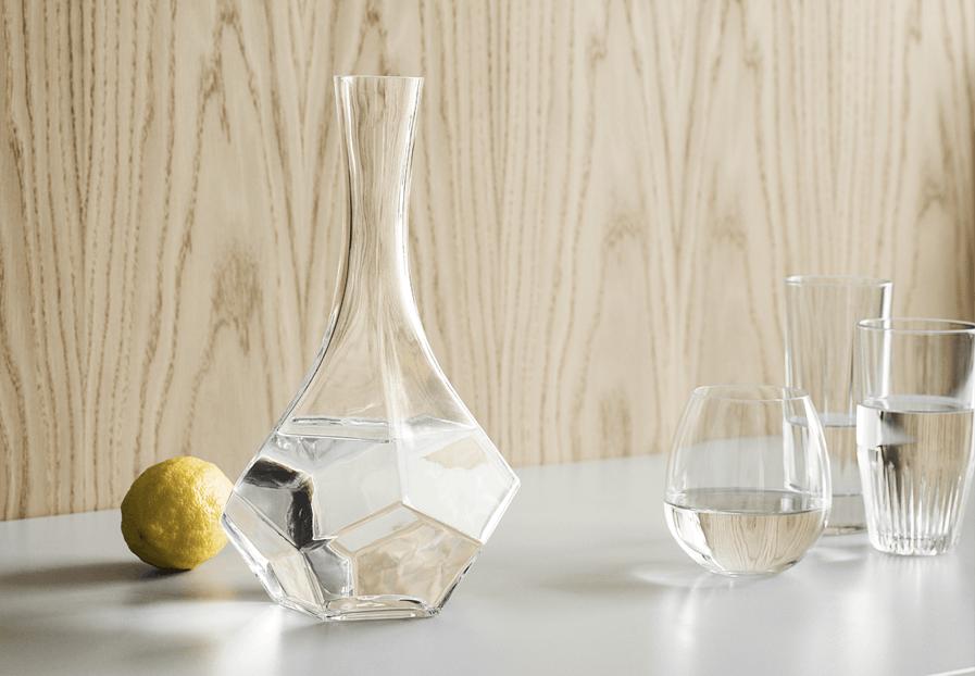 karaffel glas vin vand