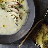 vegetar vegetarisk suppe hovedret jordskok cremet