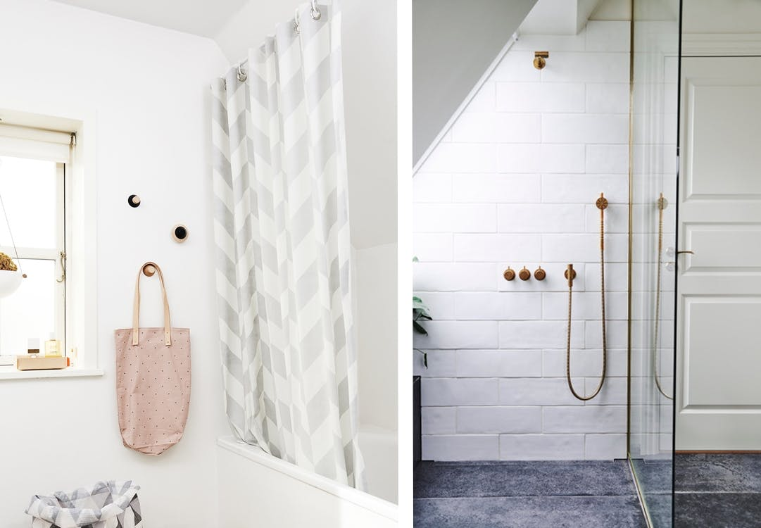 badeværelse brusevæg badeforhæng bad