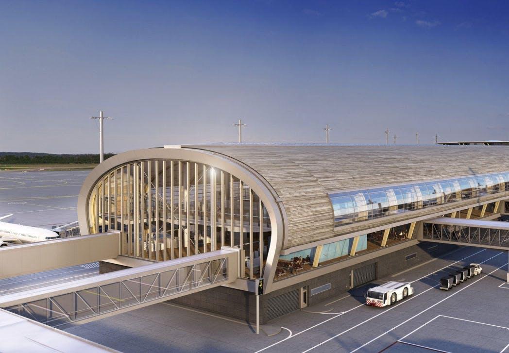 design arkitektur oslo lufthavn udvidelse