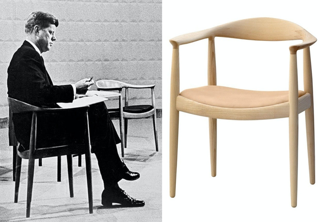 Hans J. Wegners The Chair og John F. Kennedy