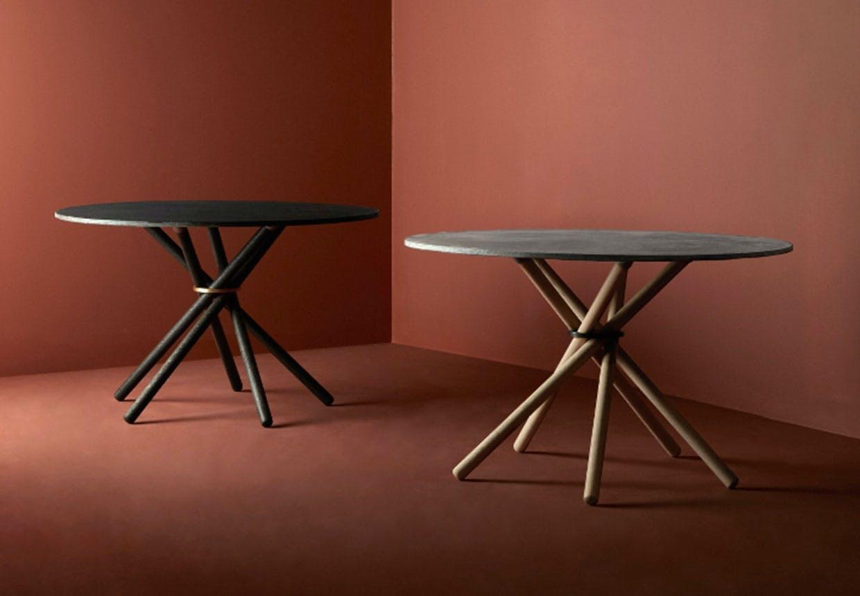 Eberhardt Furniture - ringborde i beton og eg.