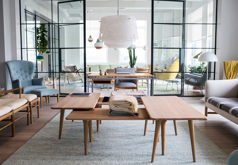 Showroom i New York City med møbler og boliginventar fra Carl Hansen & Søn