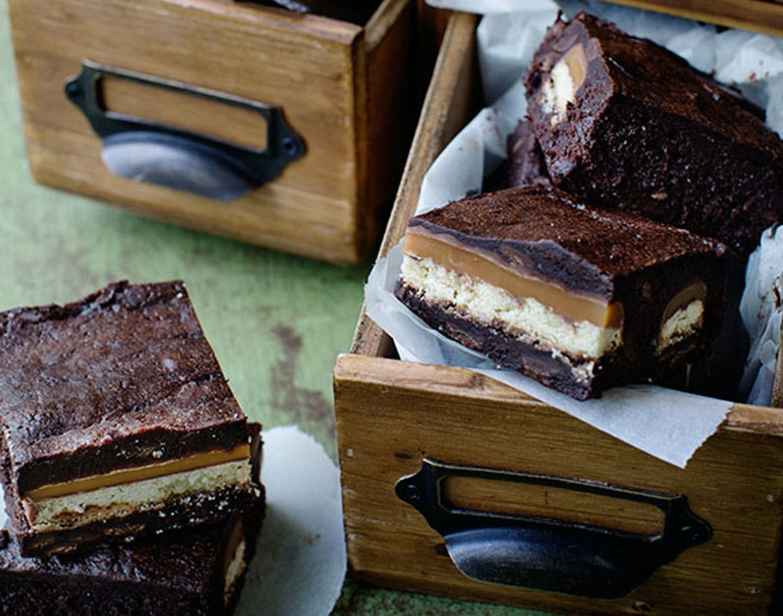 Chokolade-brownie med Twix