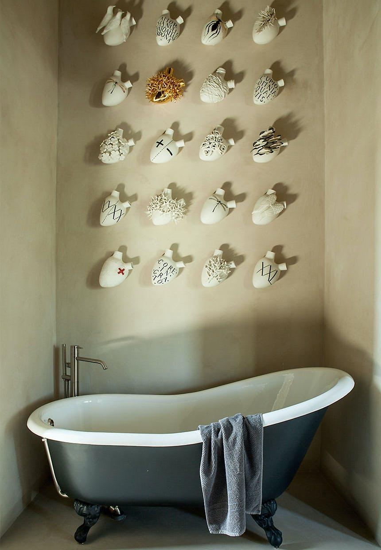 Badekar med kunst