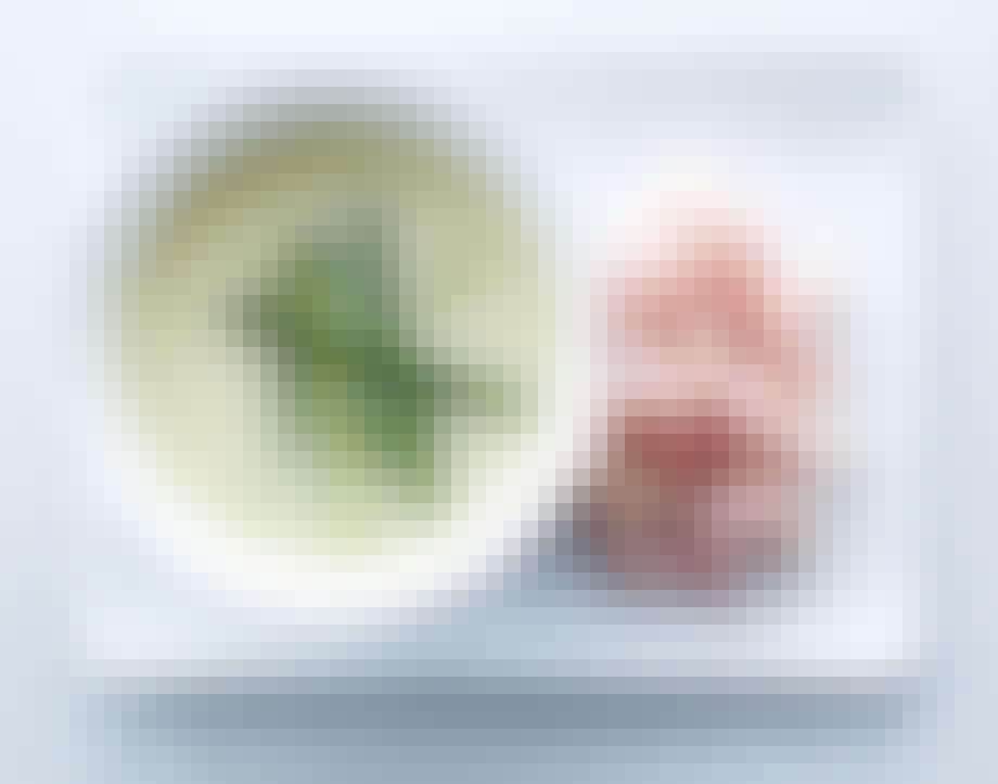 Suppe med asparges og rejer