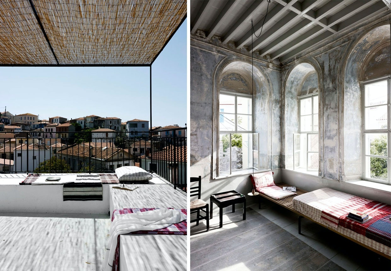 Kaptajnens Hus i Plomari på Lesvos istandsat af danske arkitekter.