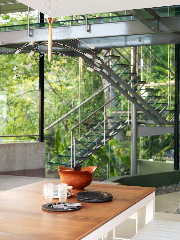 Trappen af glas lader udsigten fortsætte