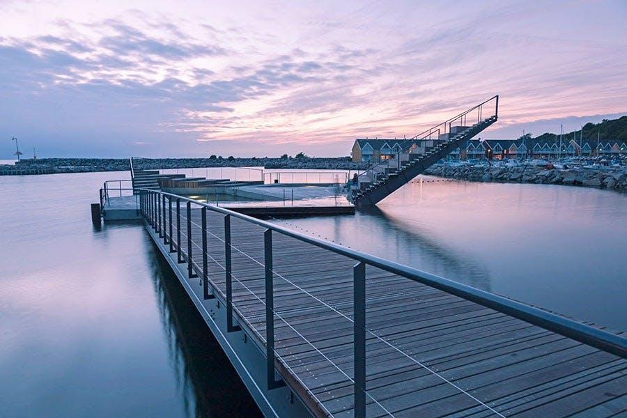 Smukt friluftsbad på Bornholm