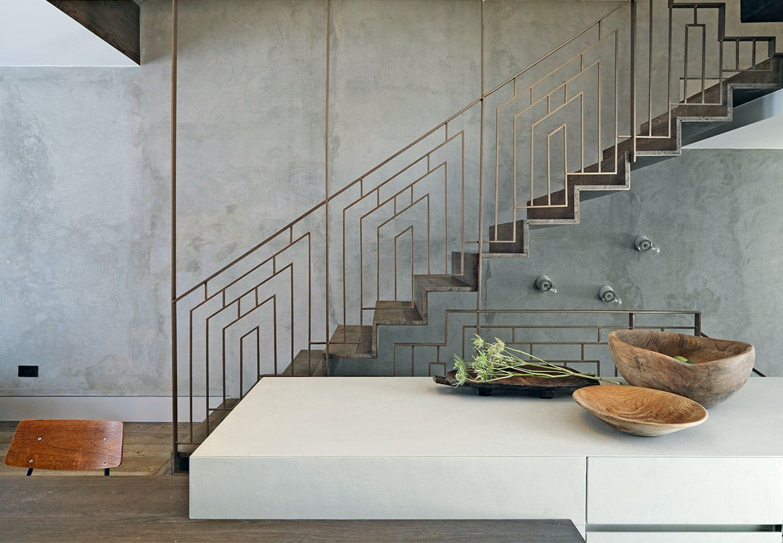 Spektakulær trappe giver blikfang