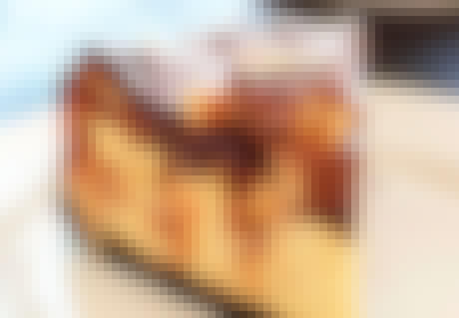 Snickers cheesecake med Oreo bund