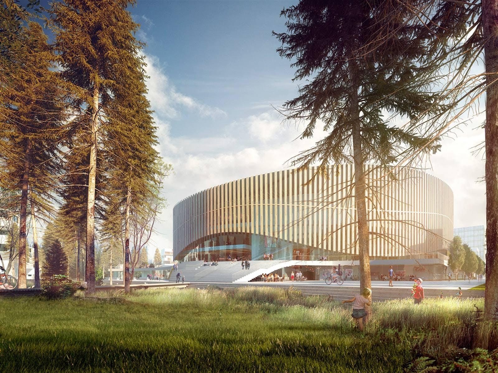 3XN's Royal Arena i Ørestad netop færdiggjort