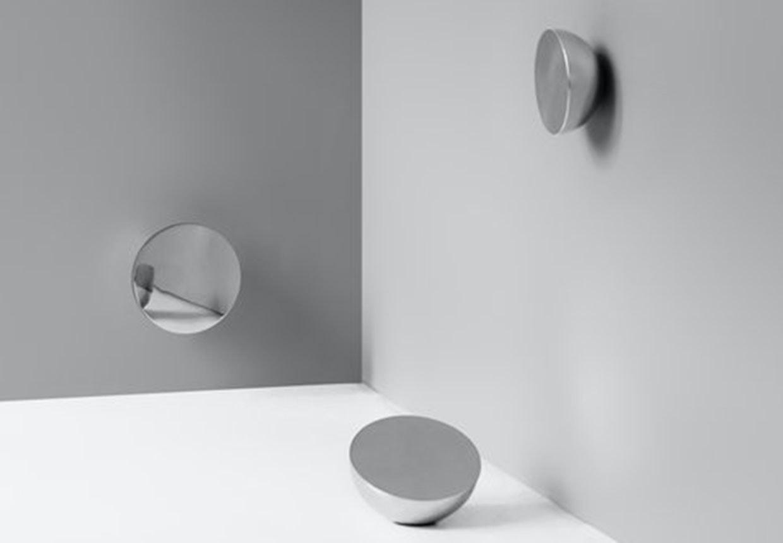 Runde halvkugle spejle, Aura, fra New Works og Bjørn van den Berg.