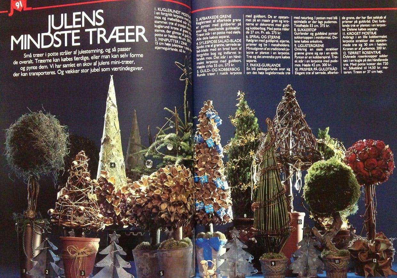 1990 - juletræsdekorationer i potte