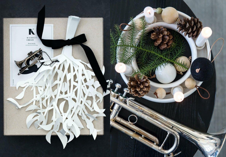 juleborde bo bedre design bordopdækning sort hvid
