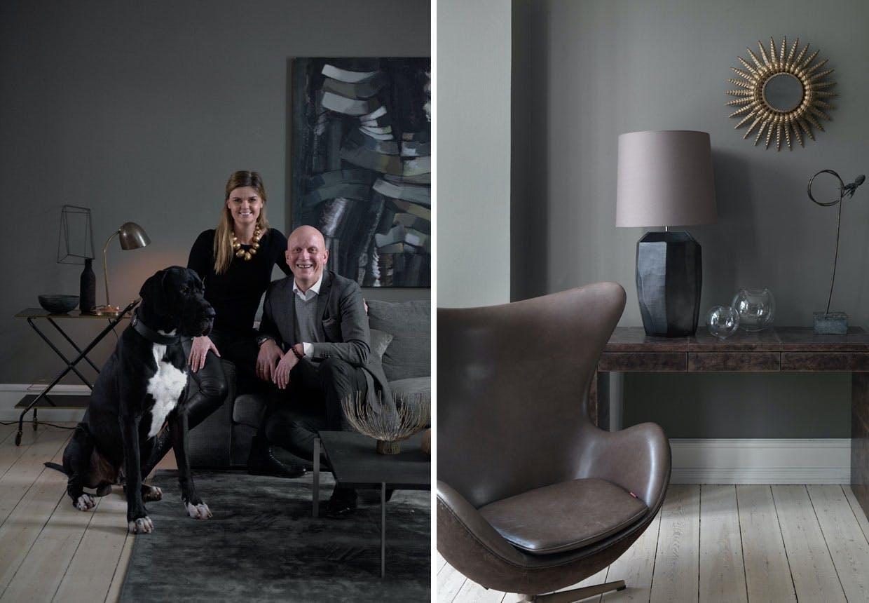 Lene Halse Hornemanns hus med mørke toner og rolig elegance