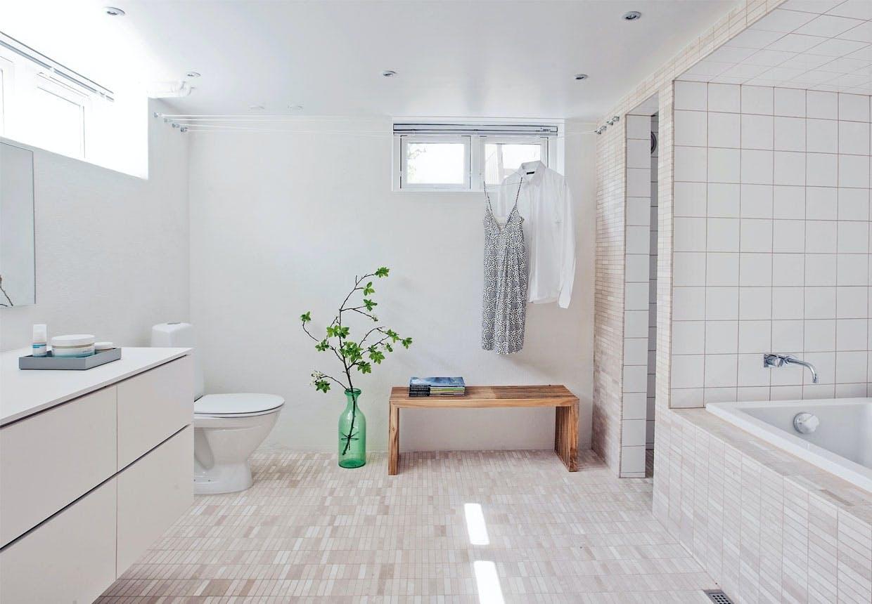 Renovering af badeværelset i kælderen