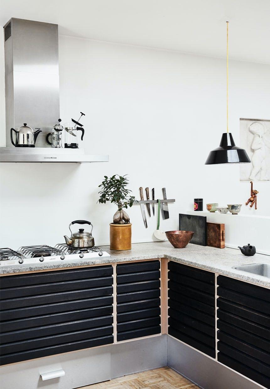 Uno form-køkken med klassisk design