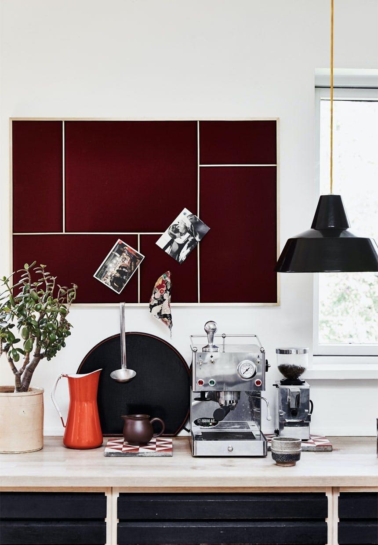 Køkken med ældre og nyt design