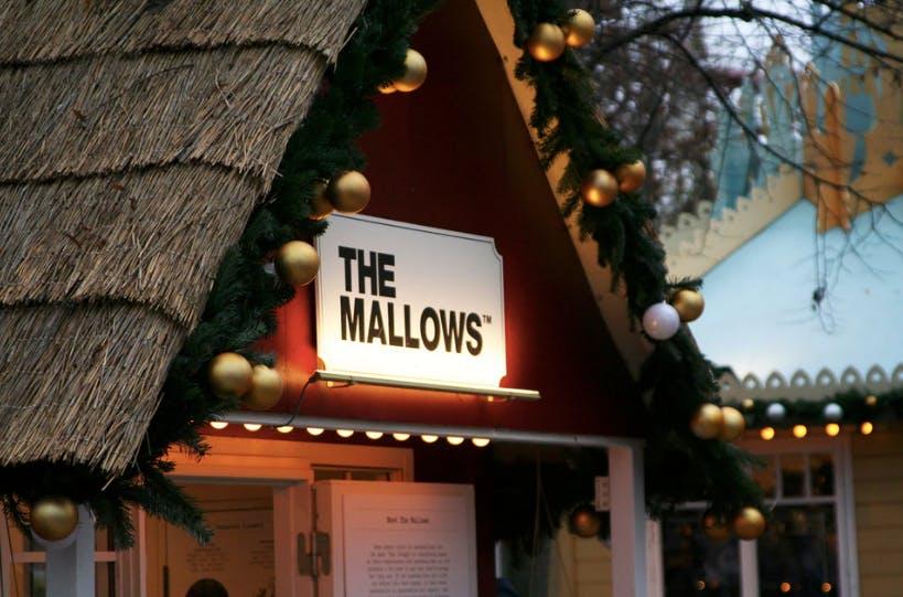 Emma Bülow foran sin bod i Tivoli, hvor hun sælger Marshmallows