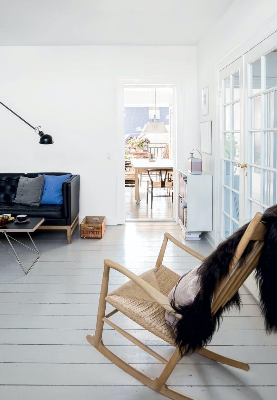Stue med udsigt til tagterrassen