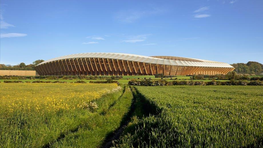 Engelsk fodboldstadion bygges af ét materiale