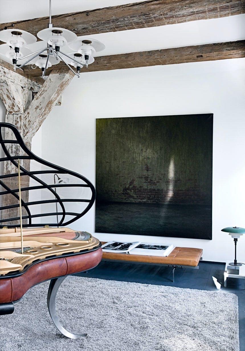 Stort maleriet lavet af kunstneren Søren Hagen