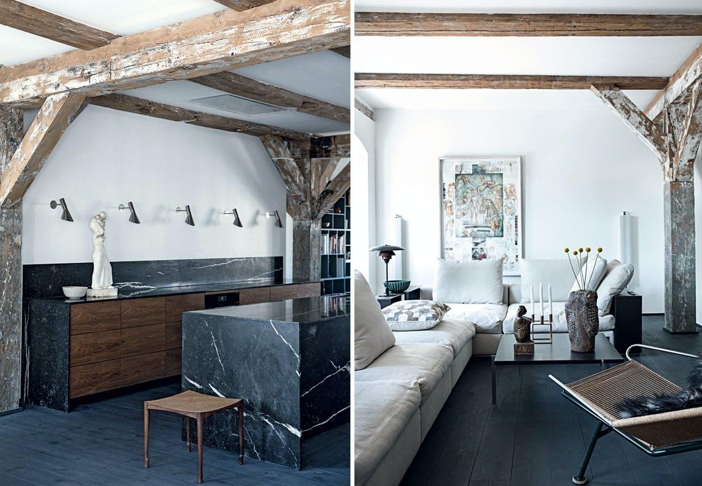 Thomas Schlossers rækkehus på Holmen med dansk design.