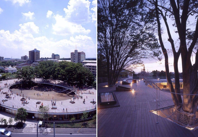 Frihed, træer og tagterasse i Japan