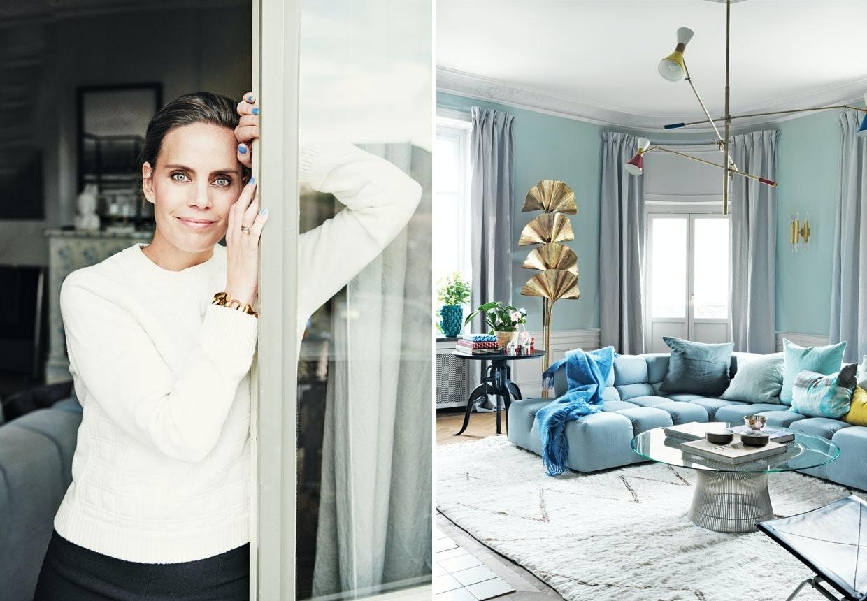 Charlotta og David Zetterströms lejlighed i hjertet af Stockholm