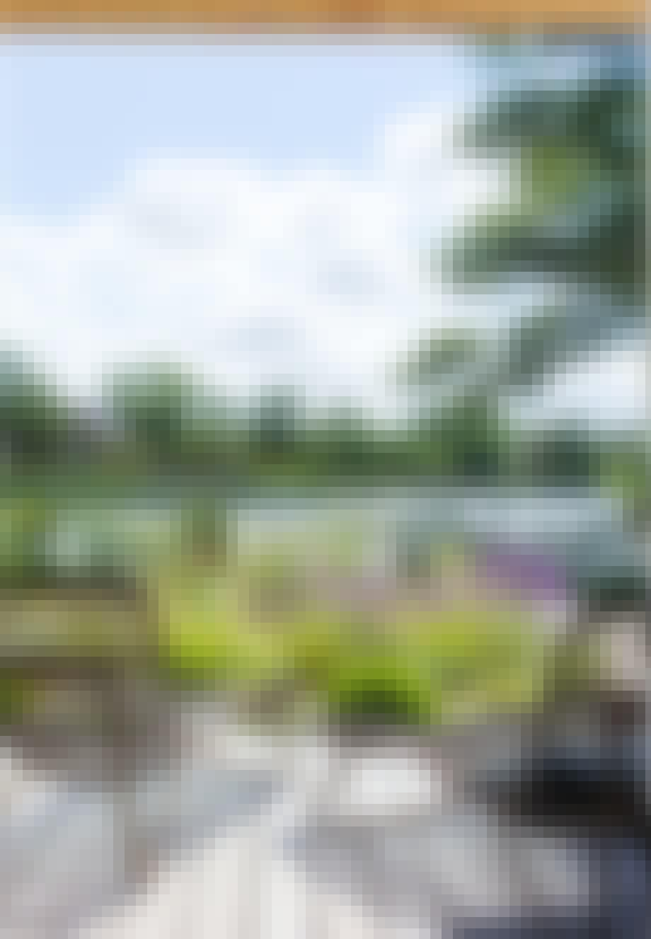 Havemøbler i rattan på terrassen