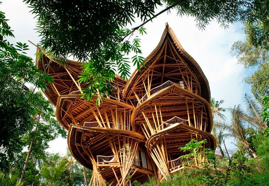 Bambushytte i 6 etager