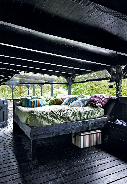 Udendørs soveplads på terrassen