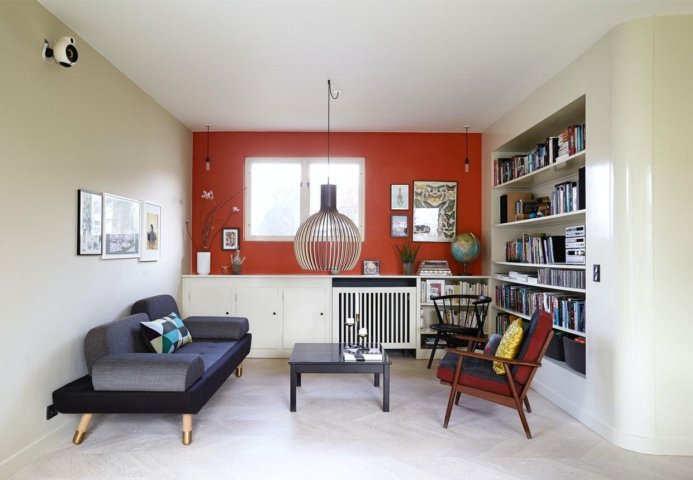 1950'er villa med fokus på farver