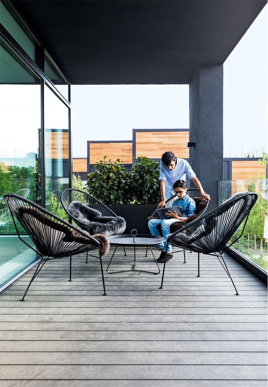 Terrasse med dejligt loungeområde