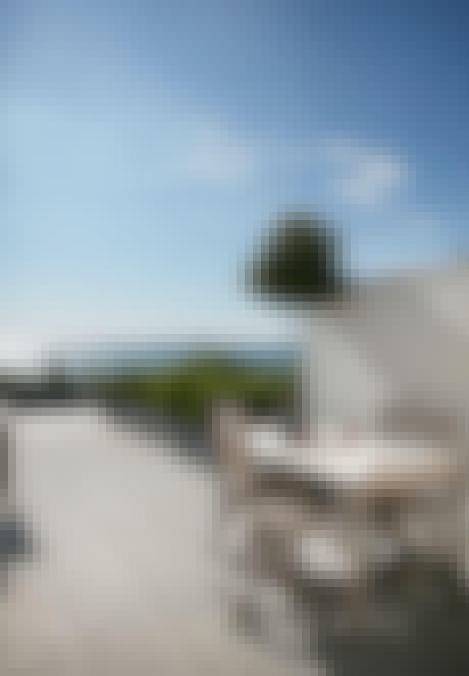 Terrasse med læ og bragende udsigt over Øresund