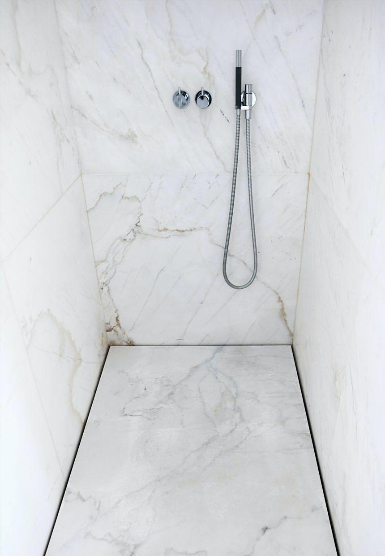 Bruseniche i marmor med smart afløb