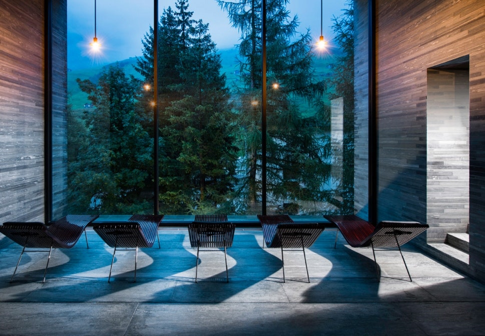 Therme Vals i Schweiz, hotel og spa