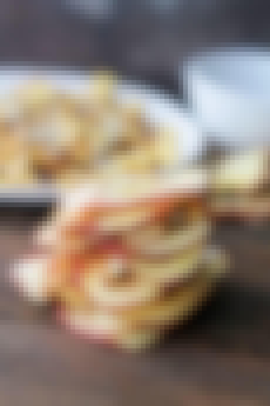 Æblechips bagt i mikroovnen