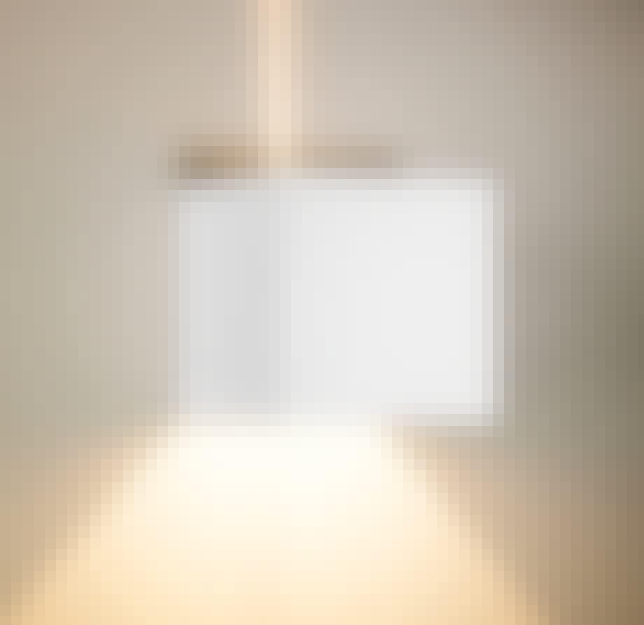 Kvadratisk badlampe