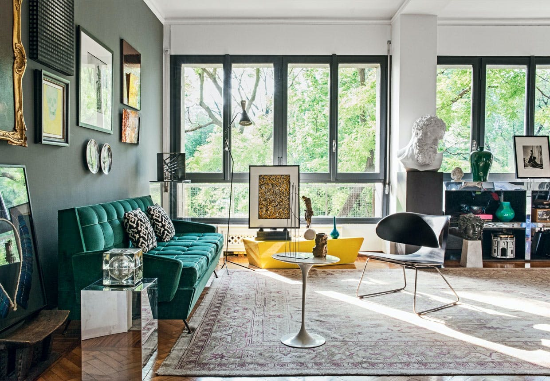 Milano-lejlighed med kunst og design