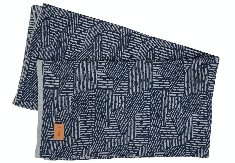 Grafiske bomuldsplaid fra Ferm Living