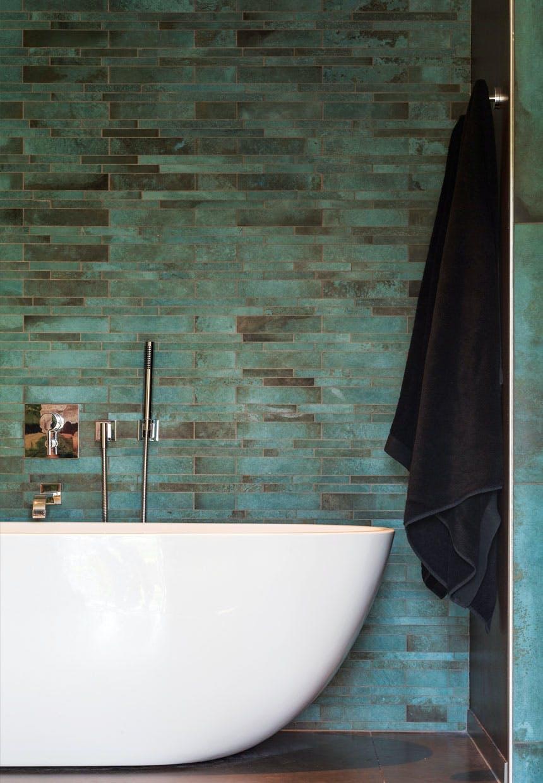 Vådrum i badeværelset med smukke fliser